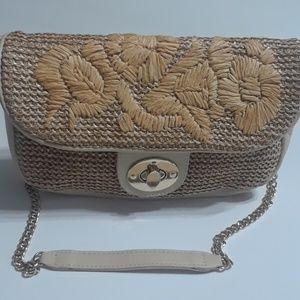 Express Small Basket Weave Purse